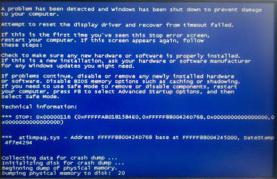 Window 7 BlueScreen of Death